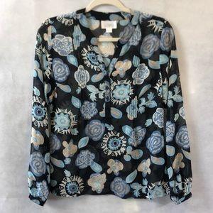 Ann Taylor loft sheer blouse